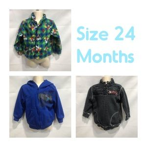 Other - Lot of 3 jackets for boy size 24 months pajama top